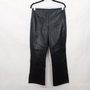 Wilson's Genuine Leather Pants Black Bootcut Biker